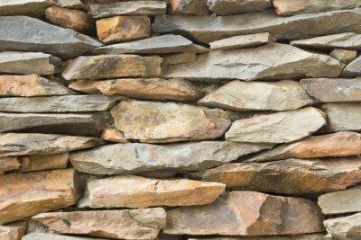 Naklejka część kamiennym murem, dla tła lub tekstury.
