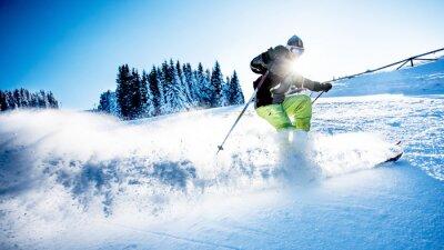 Naklejka Człowiek narciarstwo zjazdowe
