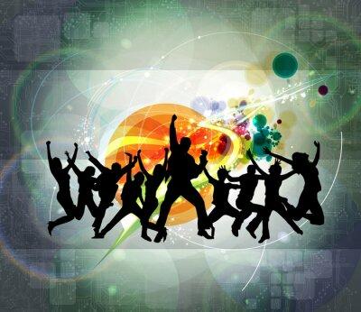 Naklejka Dancing ludzi