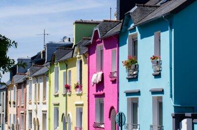 Naklejka Dans une Maisons colorées rue de Brest