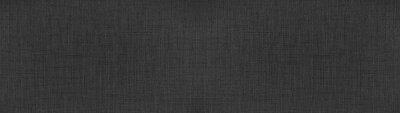 Naklejka Dark anthracite gray black natural cotton linen textile texture background banner panorama