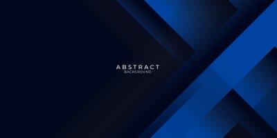 Naklejka Dark blue background with abstract graphic elements for presentation background design.