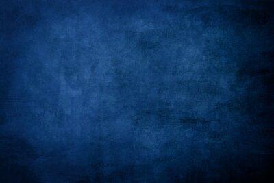 Naklejka Dark blue grungy distressed canvas bacground