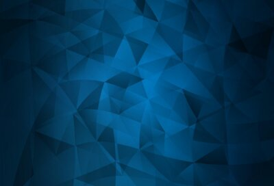 Naklejka Dark BLUE vector backdrop with lines, triangles.