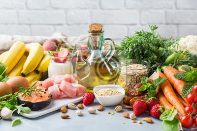 Naklejka DASH flexitarian mediterranean diet to stop hypertension, low blood pressure
