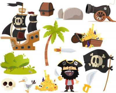 Naklejka de Zdjęcie piraci