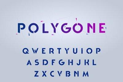Naklejka Decorative alphabet, rounded stencil sans serif style letters. Vector illustration.