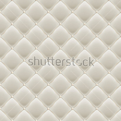 Naklejka Decorative Upholstery Soft Gloss seamless Quilted Pattern. True Luxury Template with Gold Thread. And also includes EPS 10 vector