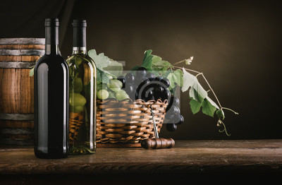 Degustacja wina i owoce martwa natura