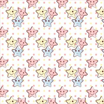 Naklejka Dekoracyjne, abstrakcyjne gwiazdy wzór, który może być używany do projektowania tkaniny, tła, opakowania papierowe, opakowania dla dzieci.