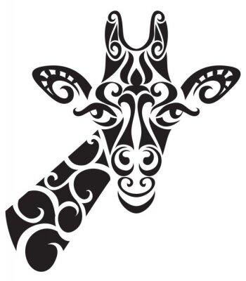 Naklejka Dekoracyjne ozdobne sylwetka żyrafy.