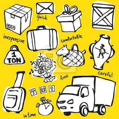 Delivery Service Vector Set
