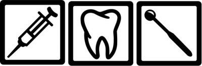 Naklejka Dentysta