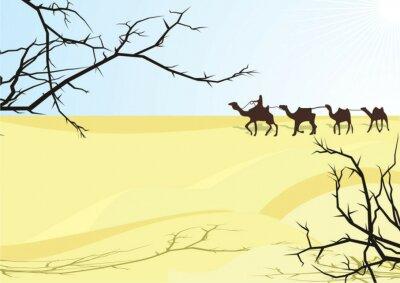 Naklejka desert karavan