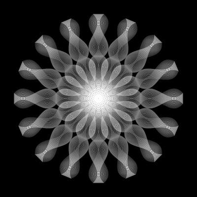 Naklejka Design monochrome decorative circle element