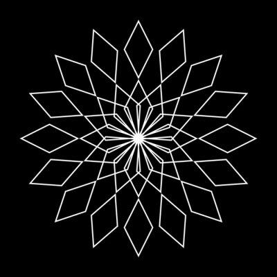 Naklejka Design monochrome decorative snowflake element
