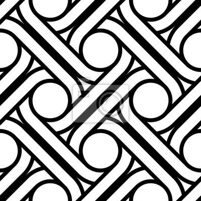 Naklejka Design seamless interlaced pattern