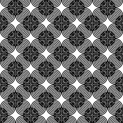 Naklejka Design seamless monochrome grating pattern