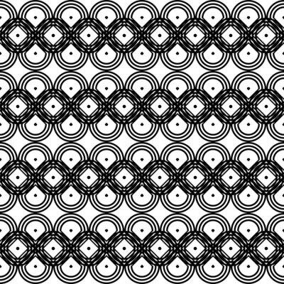 Naklejka Design seamless monochrome grating zigzag pattern