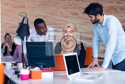 Naklejka Designer Teamwork Brainstorming Planning Meeting Diversity Concept