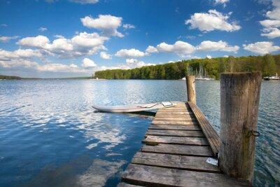 Naklejka Deska surfingowa na Jezioro
