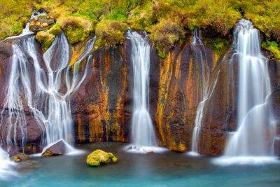 Naklejka Detail of the Hraunfossar falls in Iceland