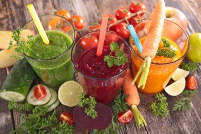 Naklejka detox sok warzywny