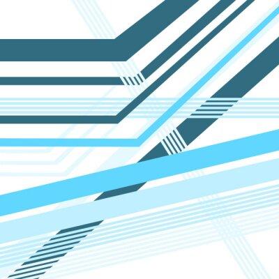 Naklejka diagonal lines blue vector abstract background