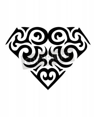 Naklejka Diament Symbol Tatuaż Na Wymiar Sztuka Szkło Bogaty