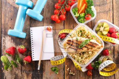 Naklejka dieta jedzenie koncepcja