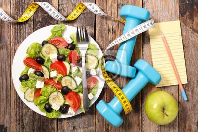 Naklejka Dieta pojęcie żywności