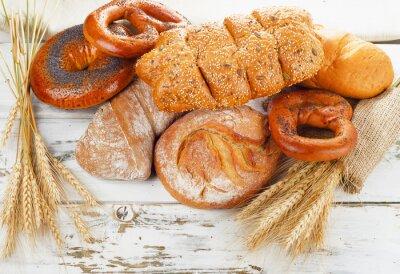 Naklejka Different bread and wheat