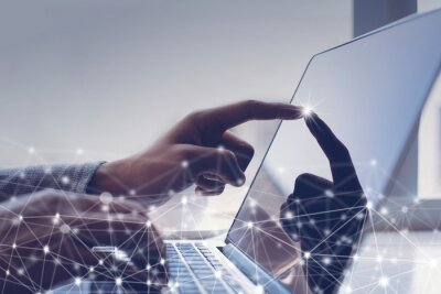 Naklejka Digital technology development
