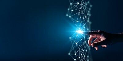 Naklejka Digital transformation conceptual for next generation technology era