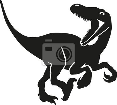 Naklejka Dinozaur VelociRaptor polowania