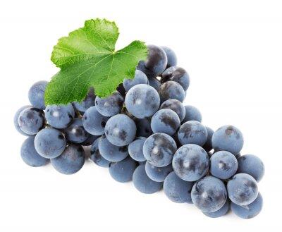 Naklejka Dojrzałe winogrona wyizolowanych na białym tle
