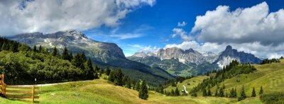 Naklejka Dolomiti - Alta Badia panorama