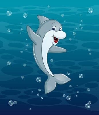 Naklejka Dolphin podwodne