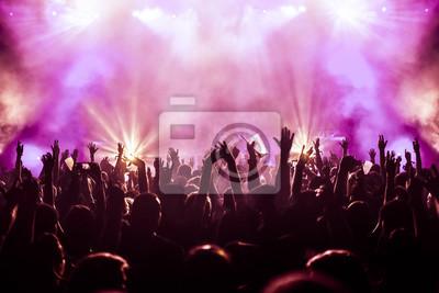 Naklejka doping tłumu na koncercie rockowym