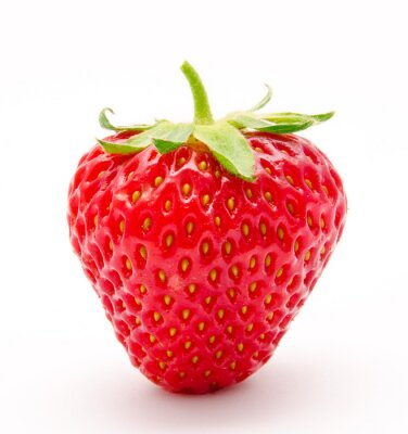 Naklejka Doskonałe czerwone dojrzałe truskawki samodzielnie