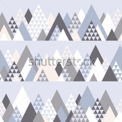 Naklejka Dostępny wzór z geometrycznymi górami -1