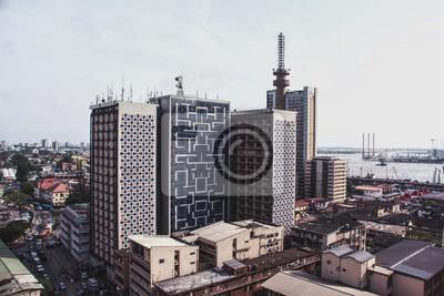Naklejka Downtown Lagos