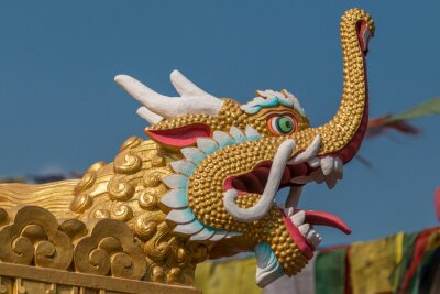 Naklejka Drachen się buddhisistschem Tempel