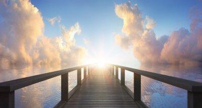 Naklejka Drewniane molo nad morzem