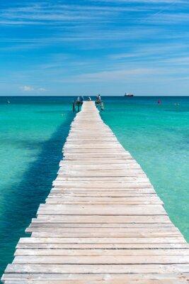 Naklejka Drewniane molo w turkusowe morze Majorki - 7846