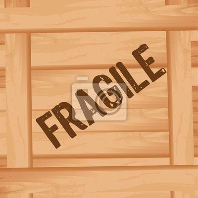 Naklejka drewniane pudełko