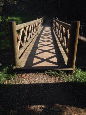 Naklejka Drewniany most