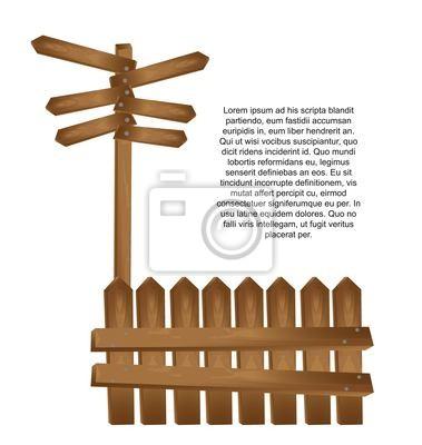 drewniany wektor