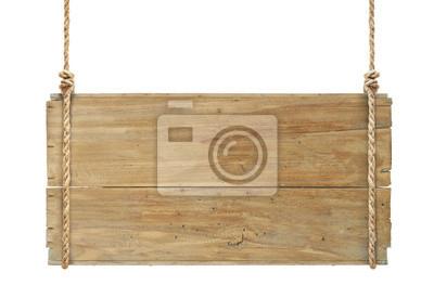 Naklejka drewniany znak