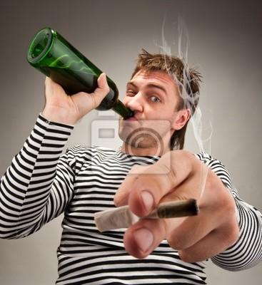Naklejka Drunk bizarre sailor